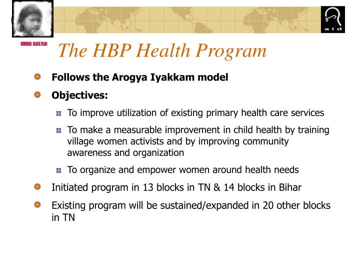 The hbp health program