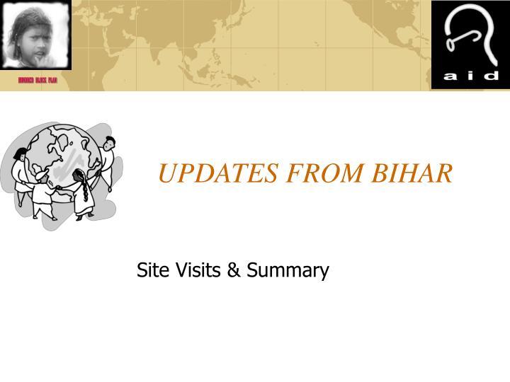 UPDATES FROM BIHAR