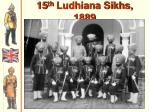 15 th ludhiana sikhs 1889