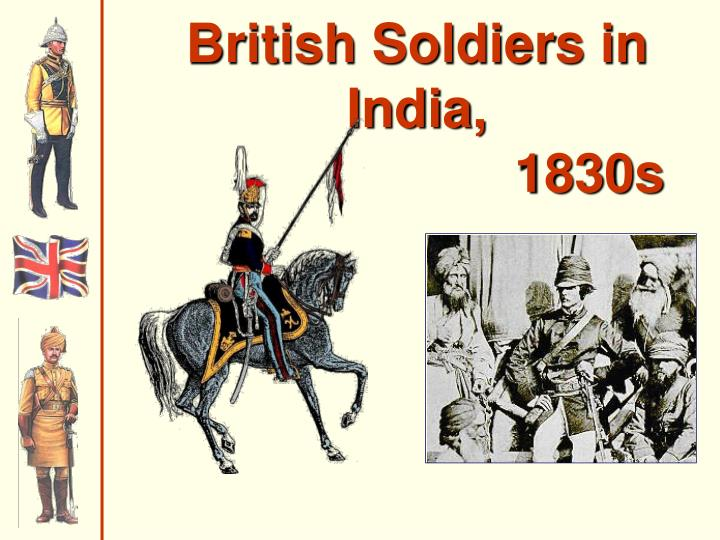 British Soldiers in India,
