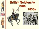 british soldiers in india 1830s