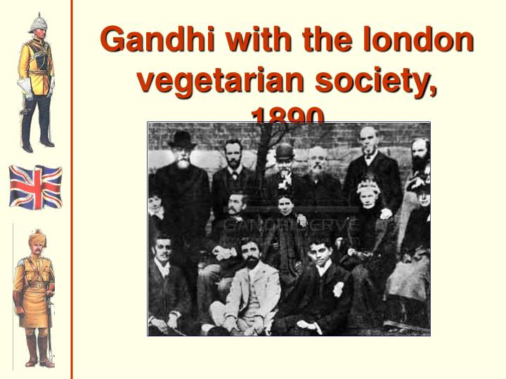 Gandhi with the london