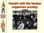 gandhi with the london vegetarian society 1890