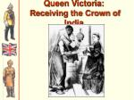 queen victoria receiving the crown of india