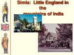 simla little england in the mountains of india