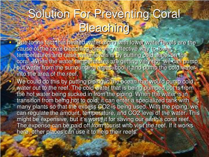 Solution For Preventing Coral Bleaching