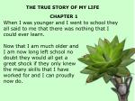 the true story of my life chapter 11