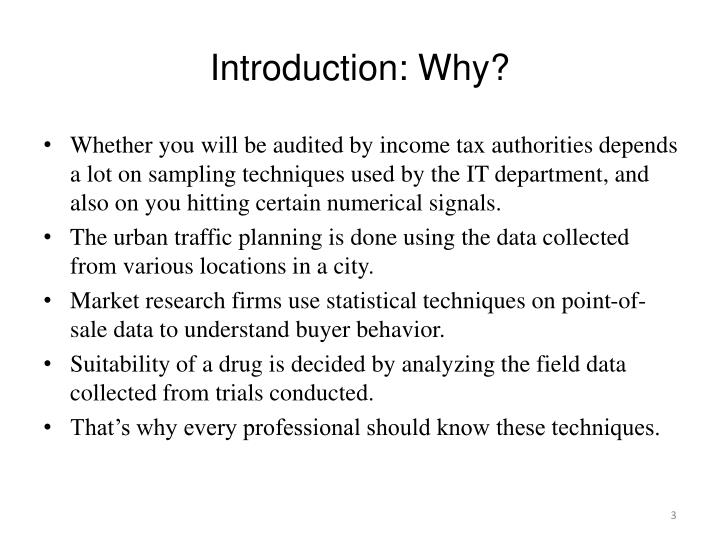Introduction why1