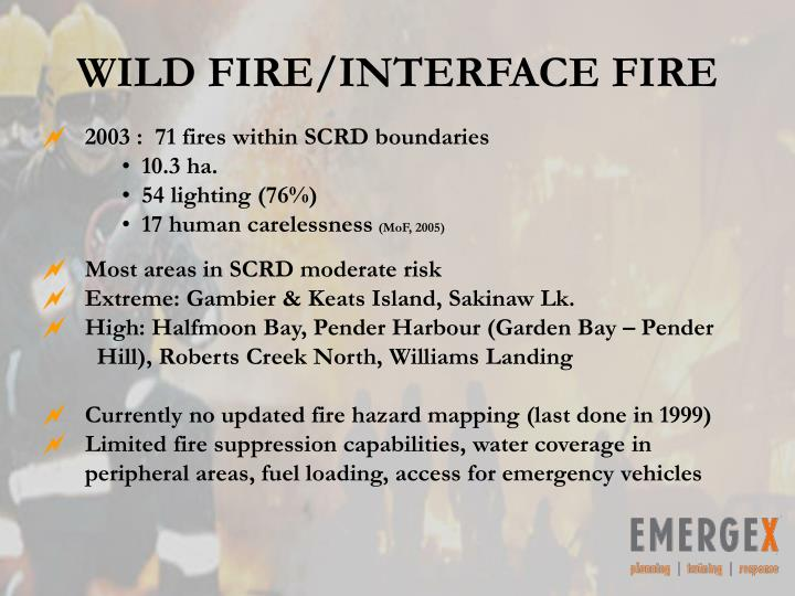 WILD FIRE/INTERFACE FIRE