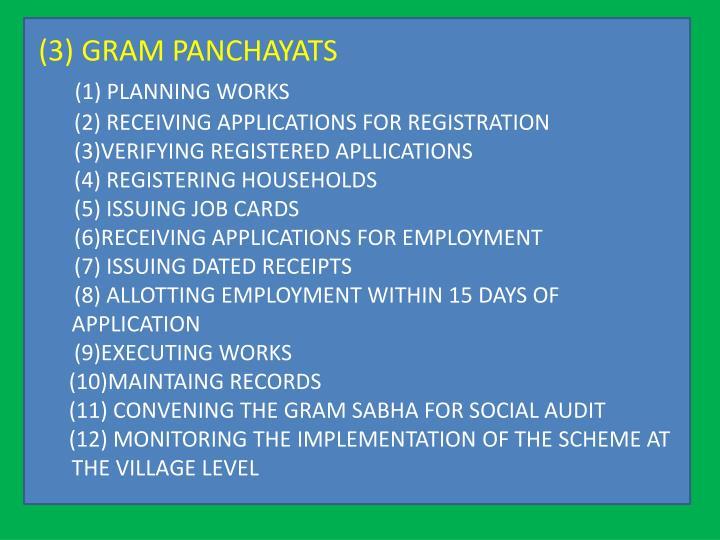 (3) GRAM PANCHAYATS