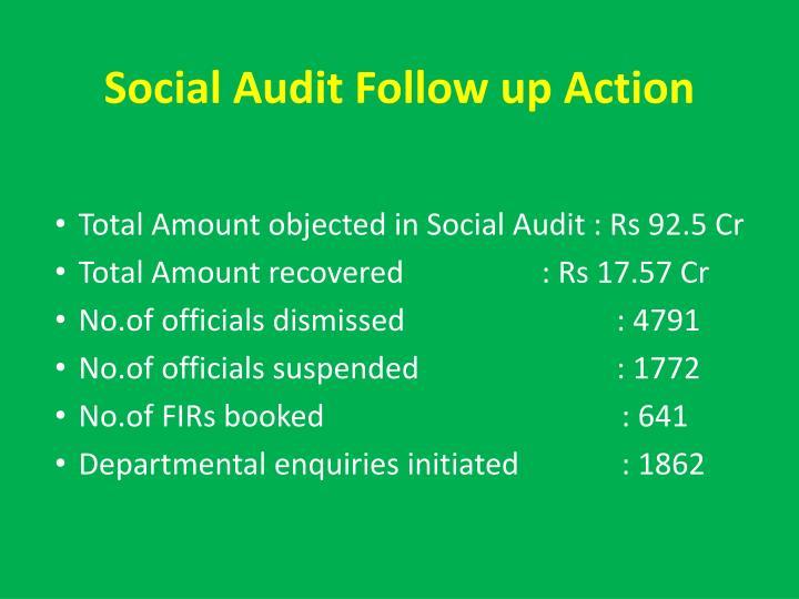 Social Audit Follow up Action
