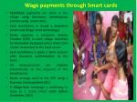 wage payments through smart cards