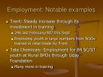 employment notable examples