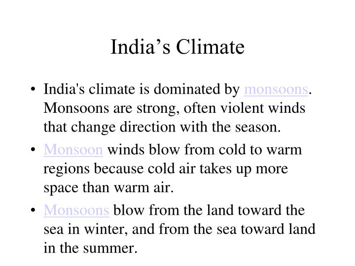 India's Climate