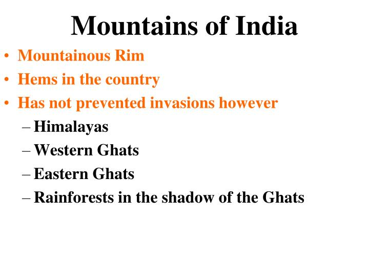Mountains of India