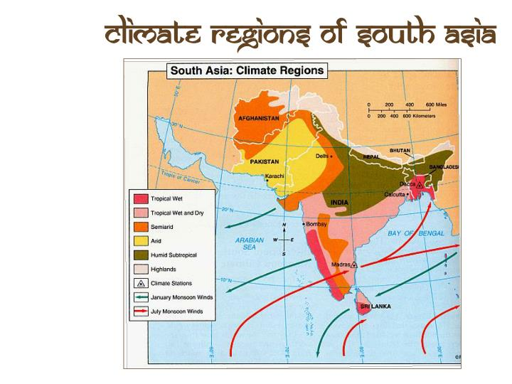 Climate Regions of South Asia
