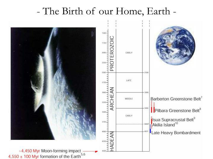 - The Birth of our Home, Earth -