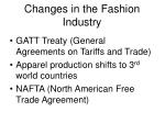 changes in the fashion industry