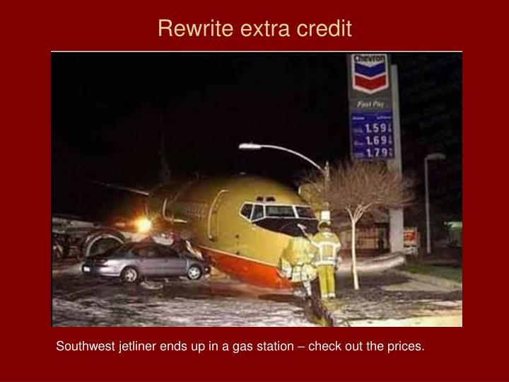 Rewrite extra credit