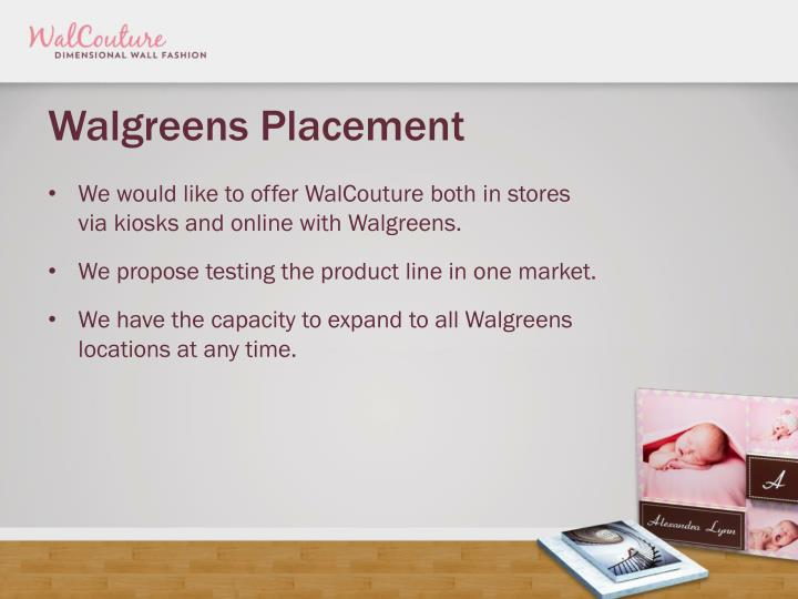 Walgreens Placement