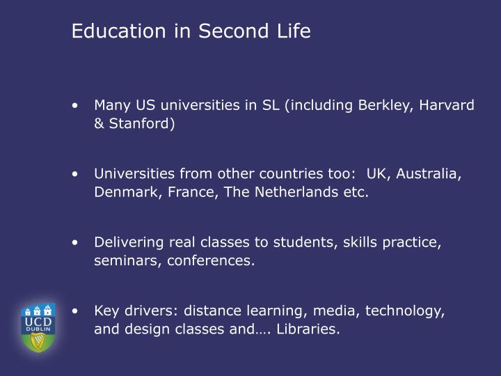 Education in Second Life