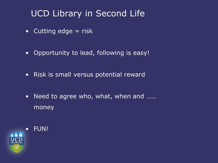 UCD Library in Second Life