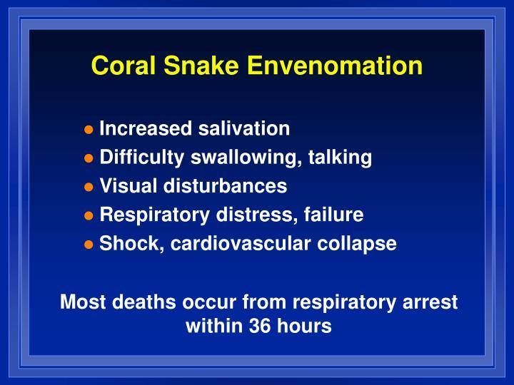 Coral Snake Envenomation