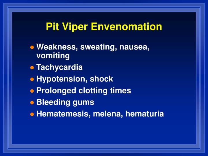 Pit Viper Envenomation
