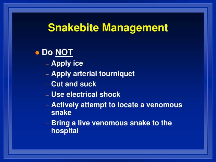 Snakebite Management