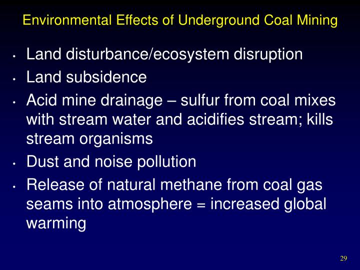 3 environmental impacts of underground mining hard