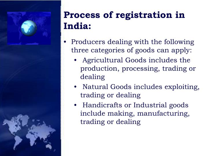 Process of registration in India: