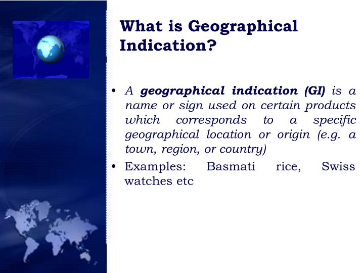 What is geographical indication