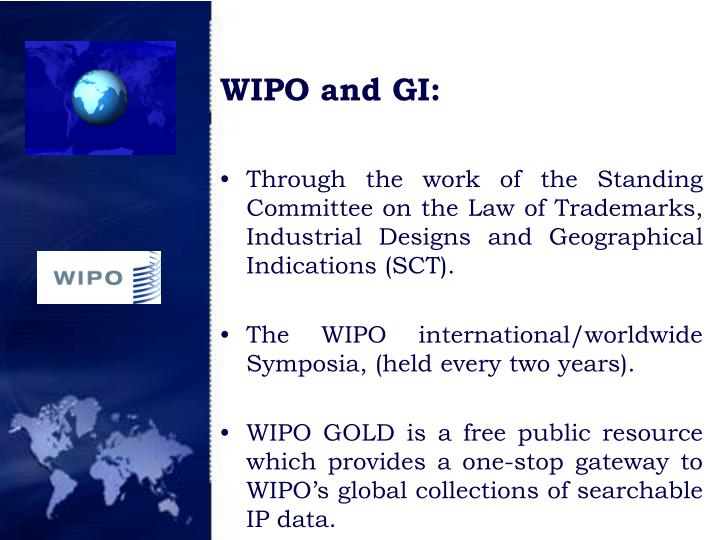 WIPO and GI: