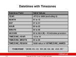 datetimes with timezones