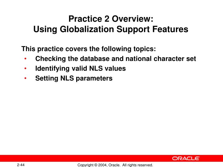 Practice 2 Overview: