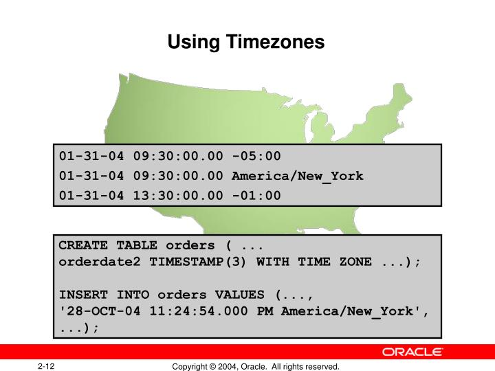 Using Timezones