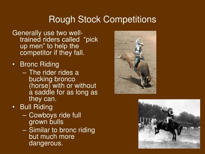 Rough Stock Competitions