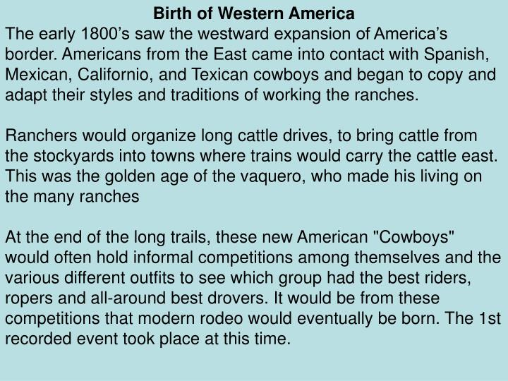 Birth of Western America