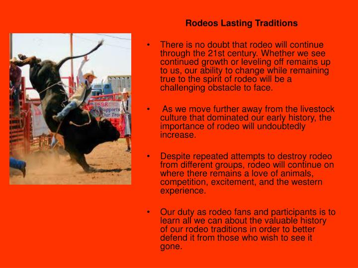 Rodeos Lasting Traditions