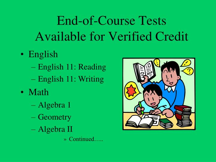 End-of-Course Tests