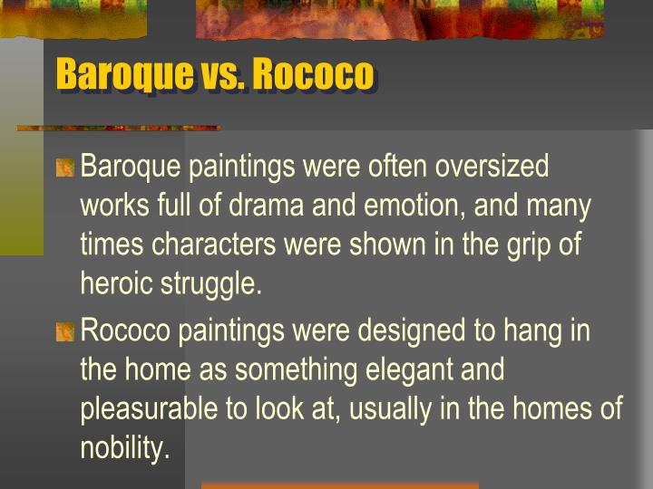 Baroque vs. Rococo