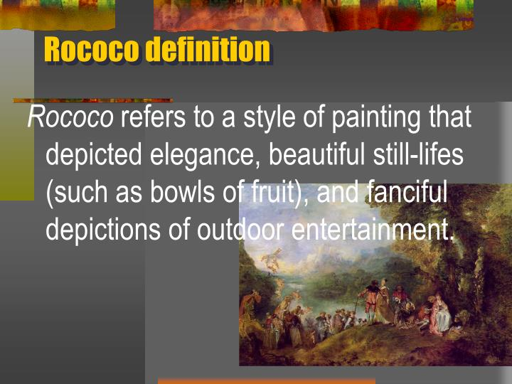Rococo definition