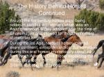 the history behind horses continued