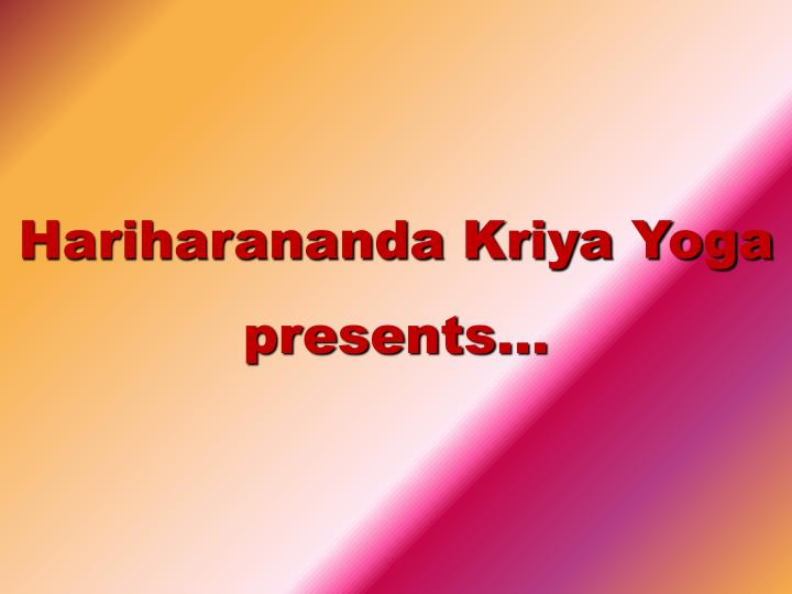 Hariharananda Kriya Yoga