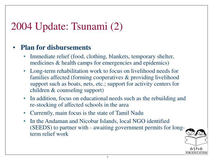 2004 Update: Tsunami (2)