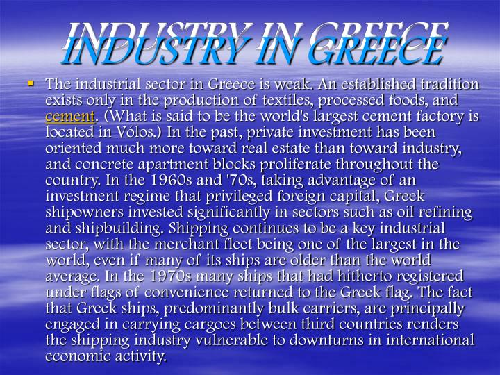 INDUSTRY IN GREECE