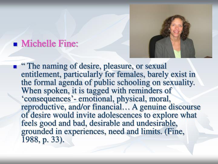 Michelle Fine: