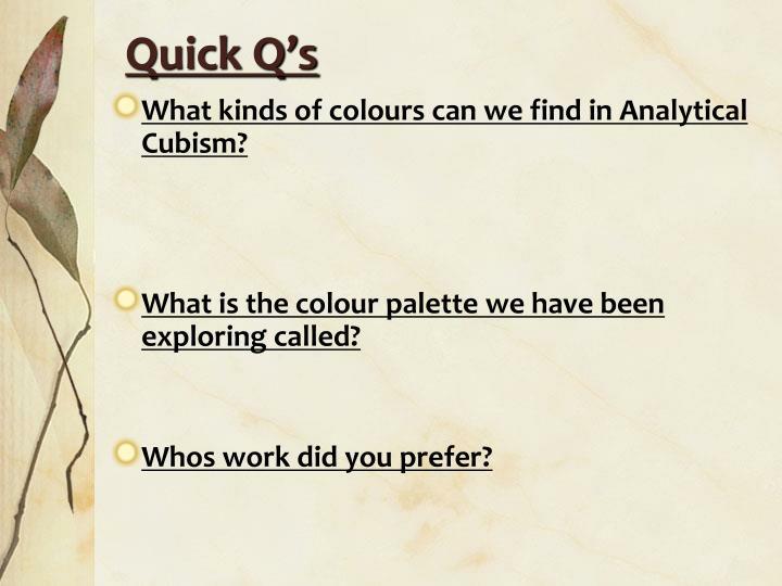 Quick Q's