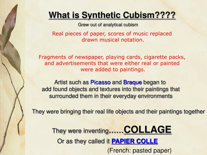What is Synthetic Cubism????