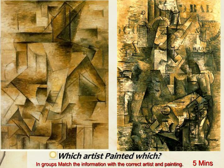 Which artist Painted which?